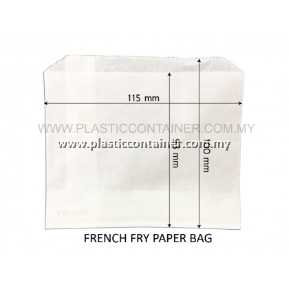 PAPER BAG FOR FRENCH FRY WHITE