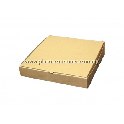 PIZZA BOX BROWN 10 X 10 X 1.5 INCH