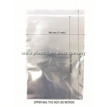 "ZIPPER BAG 7"" X 10"" EXTRA THICK (80 MICRON)"