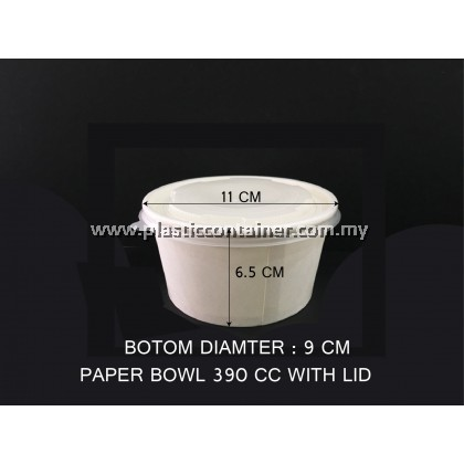 PAPER BOWL 390CC WITH LID