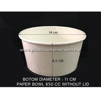 PAPER BOWL ONLY 850CC WITHOUT LID