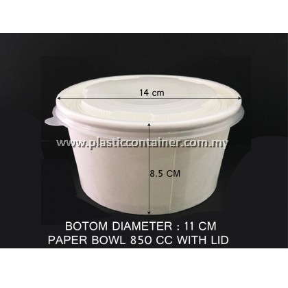 PAPER BOWL 850CC WITH LID
