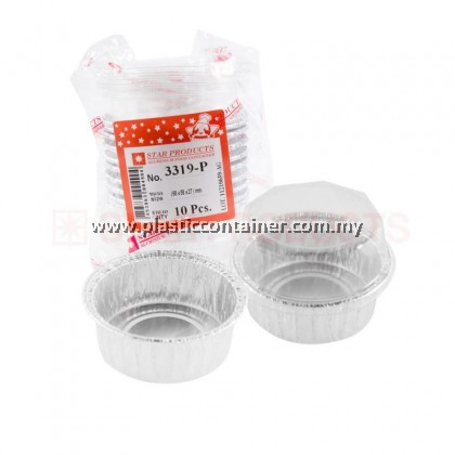 ROUND SHAPE FOIL CONTAINER 3319 WITH PLASTIC LID