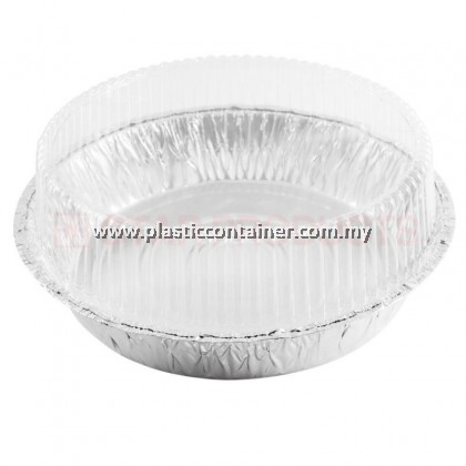 ROUND SHAPE FOIL CONTAINER  3417P  WITH PLASTIC LID